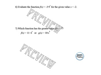 Graphing and Evaluating Exponential Functions Lesson 2 of 2