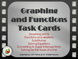 "Graphing and Functions Task Cards - ""At the Movies"""