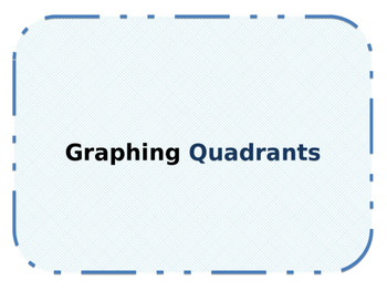 Graphing and Labeling Quadrants Interactive Notebook Foldable