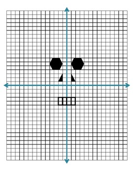 """Graphing and Ordered Pairs """"Dot Skull"""""""