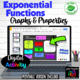 Exponential Functions Graphs & Properties Digital plus Print  Distance Learning