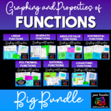 Functions Properties and Their Graphs Bundle | Distance Learning