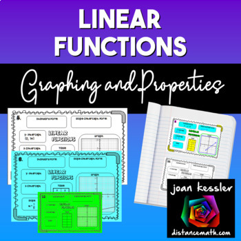 Graphing and Properties of Linear Functions Concept Map INB Guided Notes