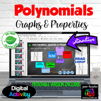 Graphing and Properties of Polynomials Digital Organizer with GOOGLE Slides™