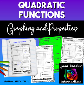 Graphing and Properties of Quadratic Functions Concept Map INB