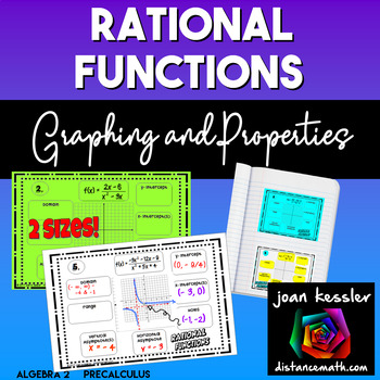 Graphing and Properties of Rational Functions Concept Map INB