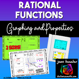 Rational Functions Graphs and Properties  for Interactive Notebook