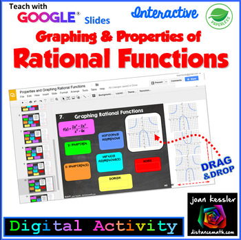 Graphing and Properties of Rational Functions Google Slides Digital
