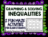 Graphing and Solving Inequalities FUN Maze Activities