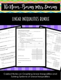 Linear Inequalities Bundle (Solving Systems and Graphing)