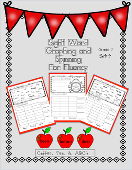 Graphing and Spinning for Sight Word Fluency  Second Grade