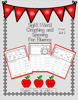 Graphing and Spinning for Sight Words Primer
