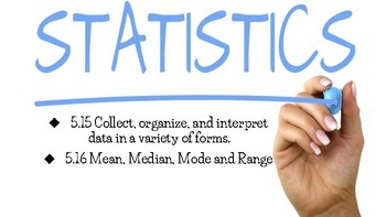 Graphing and Statistics Task Cards