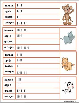 Graphing and Tally Table Activity Pack