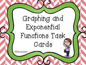 Graphing and Translating Exponential Function Task Cards