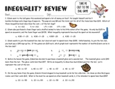 Graphing and Writing Inequality Review