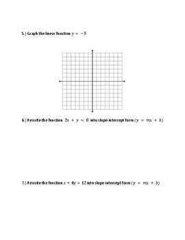 Graphing and Writing Linear Equations Race
