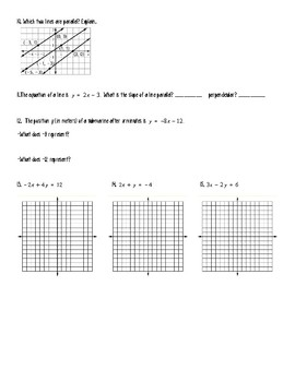 Graphing and Writing Linear Equations Test