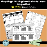 Graphing and Writing Two Variable Inequalities Sketch Notes & Activity