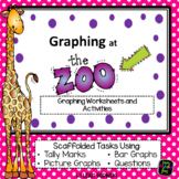 Zoo Animals - Activity - Graphing -Tally Marks Picture Graphs Bar Graphs No Prep