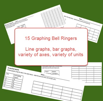Science: Graphing BELL RINGERS