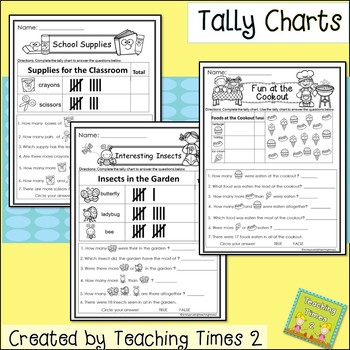 Graphing for 1st and 2nd Grade