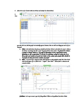 Graphing for Chemistry Labs (in Excel) tutorial for students