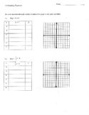 Graphing functions tables graphs f(x) work space graphic o