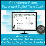 Coordinate Graphing Digital and Paper Task Cards-Boom Card