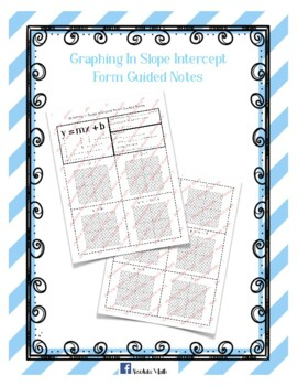 Graphing in Slope Intercept Form Guided Notes