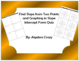 Graphing in Slope Intercept Form and Finding Slope Quiz