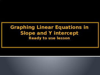 Graphing in Slope Intercept Form: Ready to use lesson