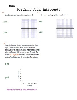 Graphing in Standard Form