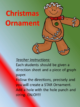 Graphing lines- Christmas Ornament