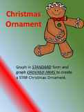 Algebra and Pre-Algebra Graphing lines- Christmas Ornament
