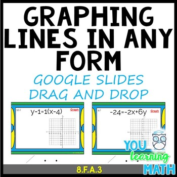Graphing lines in ANY FORM: Google Slides + Printable Task Cards