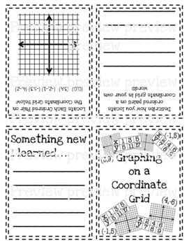 Graphing on a Coordinate Grid Mini Book