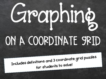 Graphing on a Coordinate Grid Powerpoint Lesson