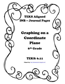 Graphing on a Coordinate Plane INB TEKS 6.11A