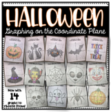 Graphing on the Coordinate Plane (Halloween Bundle/ Mystery Pictures)