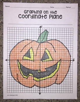 Graphing on the Coordinate Plane (Jack O' Lantern)