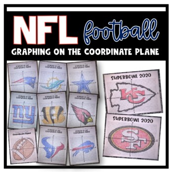 Graphing on the Coordinate Plane (NFL Football Team Bundle)