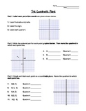 Graphing on the Coordinate Plane Worksheet or Notes Page