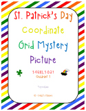"""Graphing ordered pairs on a coordinate grid-Leprechaun """"St"""
