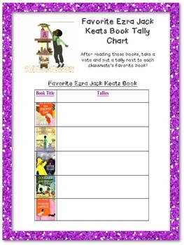 Graphing our Favorite Ezra Jack Keats Books