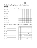 Graphing point in the coordinate plane & write ordered pai