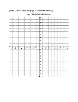 Graphing points/Ordered Pairs Battleships GAME