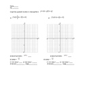 Graphing quadratic equation in factored form quiz