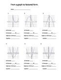 Graph quadratics to factored form