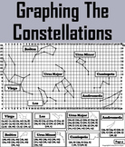 Stars and Constellations Coordinate Graphing Pictures Acti